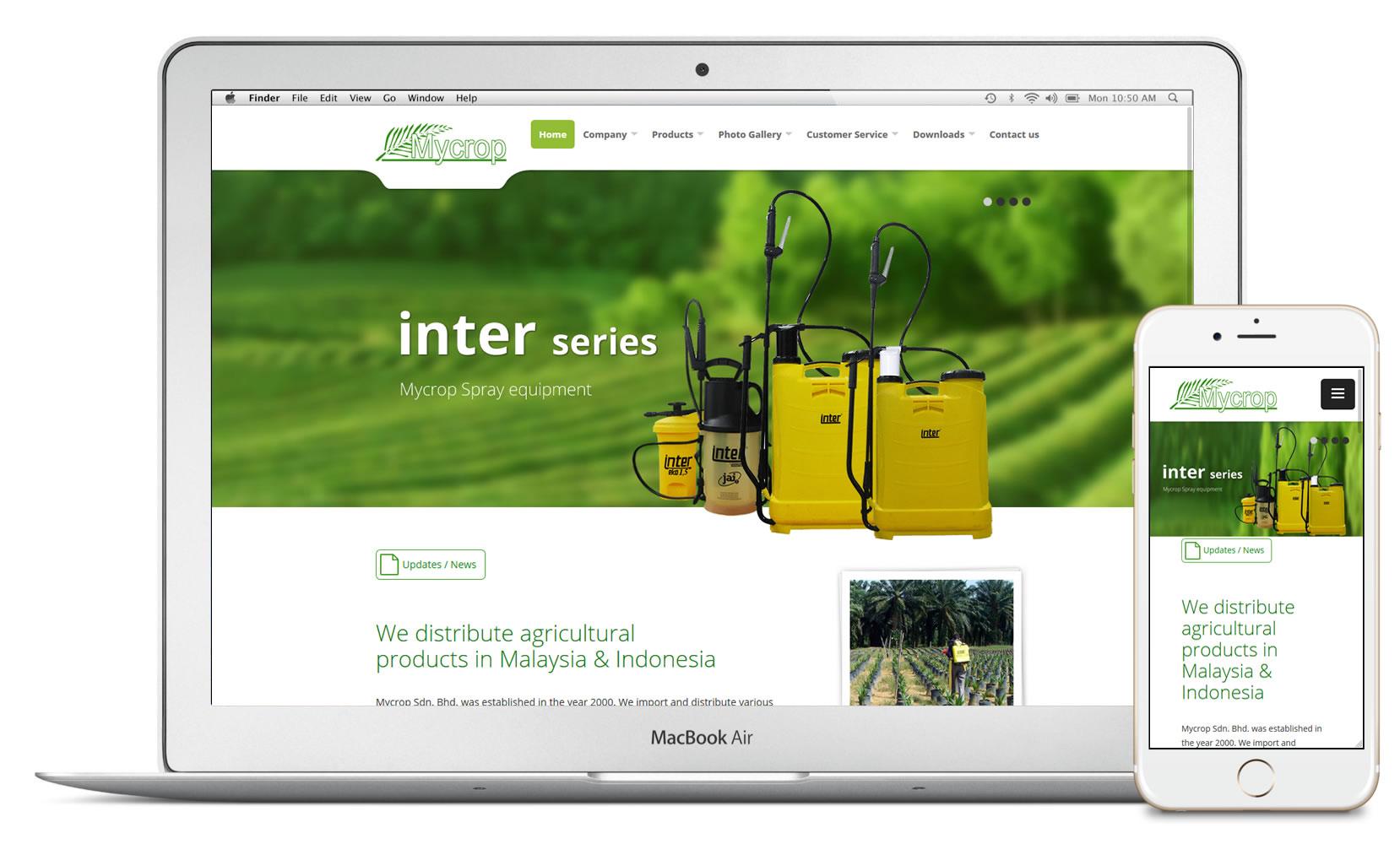 MyCrop website
