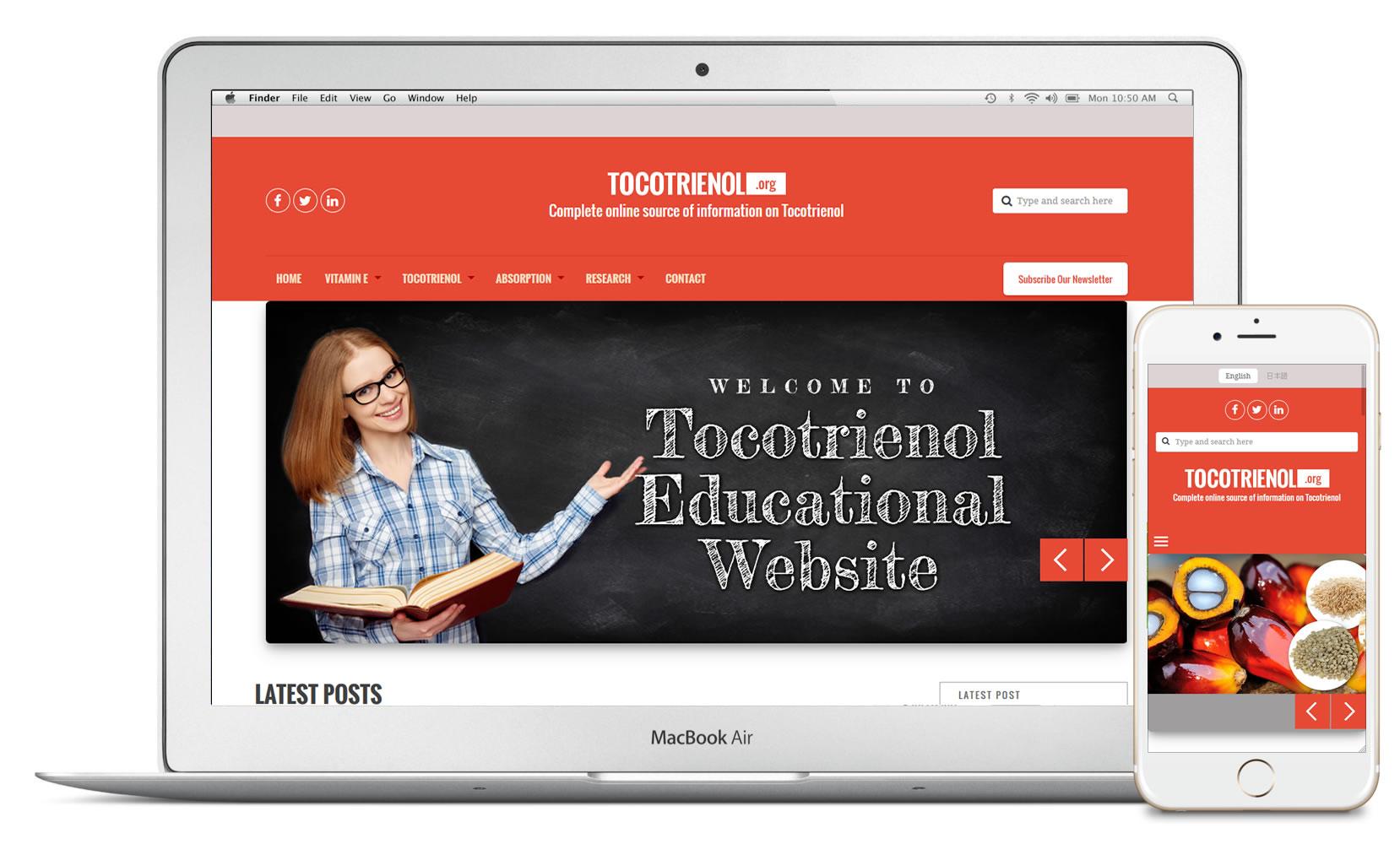 Tocotrienol website